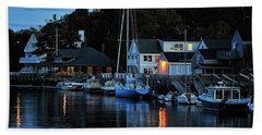 Camden Maine Twightlight Beach Towel