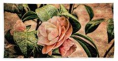 Camellia Grunge Beach Towel