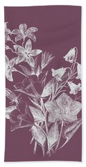 Campanulas Purple Flower Beach Towel