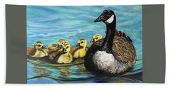 Canadian Goise And Goslings Beach Sheet