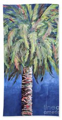 Canary Island Palm- Warm Blue I Beach Sheet