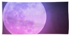 Cancer Super Wolf Blood Moon Near Eclipse Beach Towel