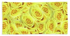 Candlelight Roses Beach Towel