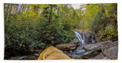 Beach Towel featuring the photograph Canin Creek Falls by Matthew Irvin