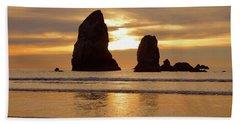 Cannon Beach November Sunset Beach Towel
