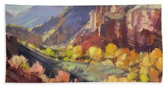 Canyon At Capitol Reef Beach Towel