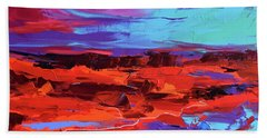 Canyon At Dusk Beach Towel