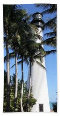 Cape Florida Lighthouse - Key Biscayne, Miami Beach Towel