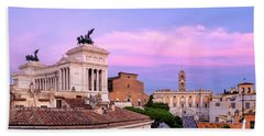 Beach Towel featuring the photograph Capitoline Hill by Fabrizio Troiani