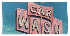 Car Wash Beach Sheet