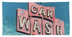 Car Wash Beach Towel