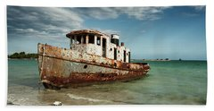 Caribbean Shipwreck 21002 Beach Towel