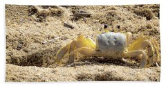 Beach Towel featuring the photograph Carl The Crab by Lora J Wilson