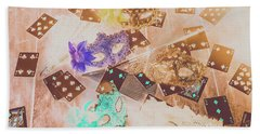 Carnival Of Cards Beach Towel