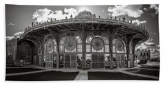Beach Towel featuring the photograph Carousel House by Steve Stanger