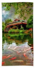 Carp At Dujiangyan Irrigation Cystem China Beach Towel