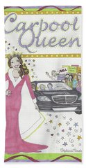 Carpool Queen Beach Towel