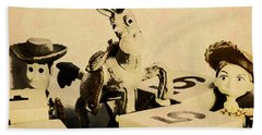 Cartoon Character Cowboys And Cowgirls Beach Towel