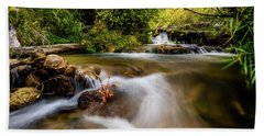 Beach Towel featuring the photograph Cascades On The Provo Deer Creek by TL Mair