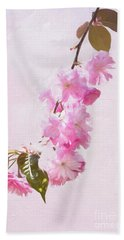 Cascading Kwanzan Cherry Blossoms Beach Towel