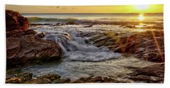 Cascading Sunset At Crystal Cove Beach Towel