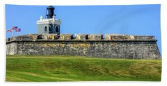 Beach Towel featuring the photograph Castillo San Felipe Del Morro, Old San Juan, Puerto Rico by Dawn Richards
