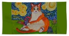 Cat Nipped  Beach Sheet