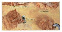 Cat Splash Beach Sheet