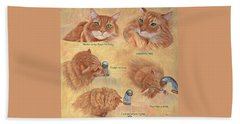 Cat Splash Beach Towel