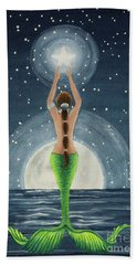 Catching Stars Watercolor Beach Towel