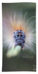 Caterpillar Face Beach Towel