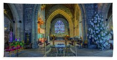 Cathedral At Christmas Beach Towel