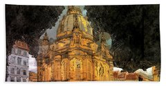 Cathedral, Dresden Beach Towel