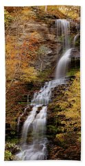 Beach Towel featuring the photograph Cathedral Falls by Pete Federico