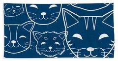 Cats- Art By Linda Woods Beach Towel