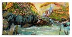 Cattail Falls Beach Towel