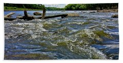 Beach Sheet featuring the photograph Cedar River Iowa by Dan Miller