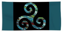 Celtic Spiral 2 Beach Towel