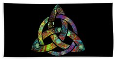 Celtic Triquetra Or Trinity Knot Symbol 3 Beach Towel