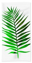Chamaedorea Leaf Beach Towel