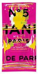 Chanel No 5 Pop Art - #3 Beach Towel