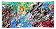 Chaos Abstraction Bright Beach Towel