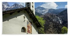 Beach Towel featuring the photograph Chapel Of Santa Maria Of Castello, Mesocco, Switzerland by Dawn Richards