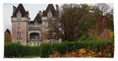 Chateau, Near Beynac, France Beach Towel