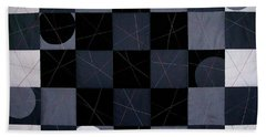 Checkers And Pick-up-sticks Beach Towel