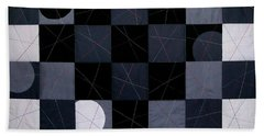 Checkerboard And Pick-up-sticks Beach Towel