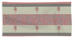 Cheery Coral Pink Beach Towel