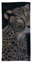 Cheetah Portrait In Pastels Beach Towel
