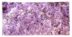Cherry Blossom Flowers Beach Towel