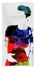 Chet Baker Watercolor Beach Towel